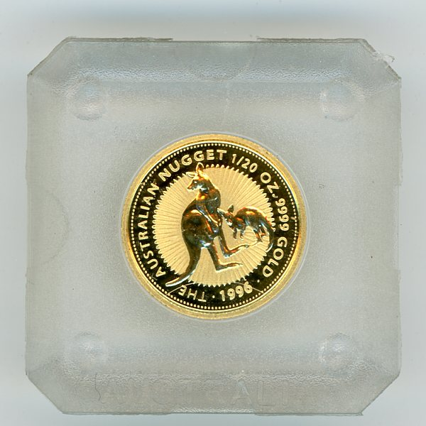 Thumbnail for 1996 Australian One Twentieth ounce Roo in Capsule