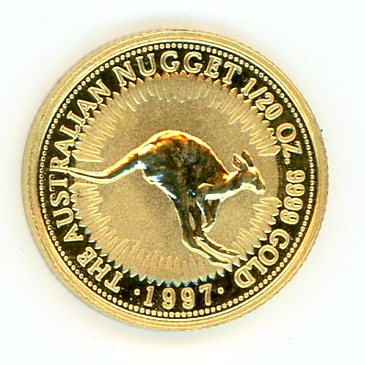 Thumbnail for 1997 Australian One Twentieth oz Kangaroo