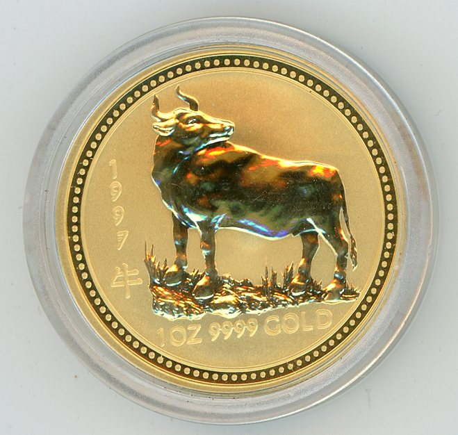 Thumbnail for 1997 Australian 1oz Gold - Year of the Ox Series One