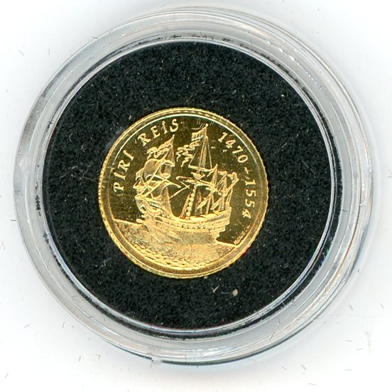 Thumbnail for 1997 Turkey 1.224 Grams .999 One Million Lira - Piri Reis