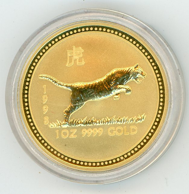 Thumbnail for 1998 Australian 1oz Gold - Year of the Tiger Series One