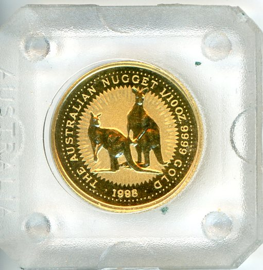 Thumbnail for 1998 One Tenth oz Gold Kangaroo