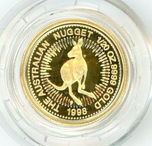 Thumbnail for 1998 One Twentieth oz Proof Kangaroo in Capsule