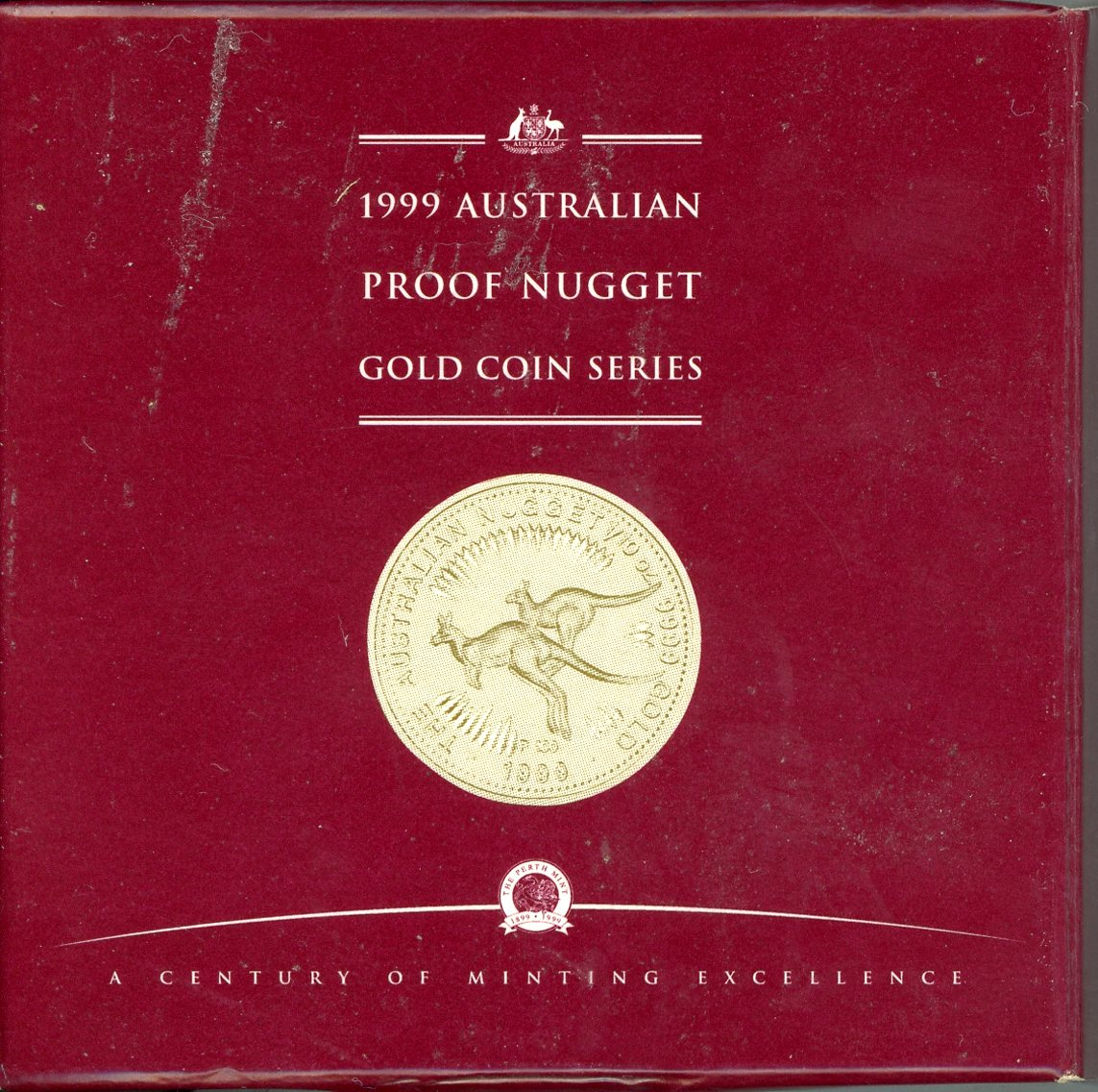 Thumbnail for 1999 Proof One Tenth oz Gold Kangaroo