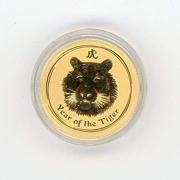 Thumbnail for 2010 Australian One Tenth Year of the Tiger in Capsule