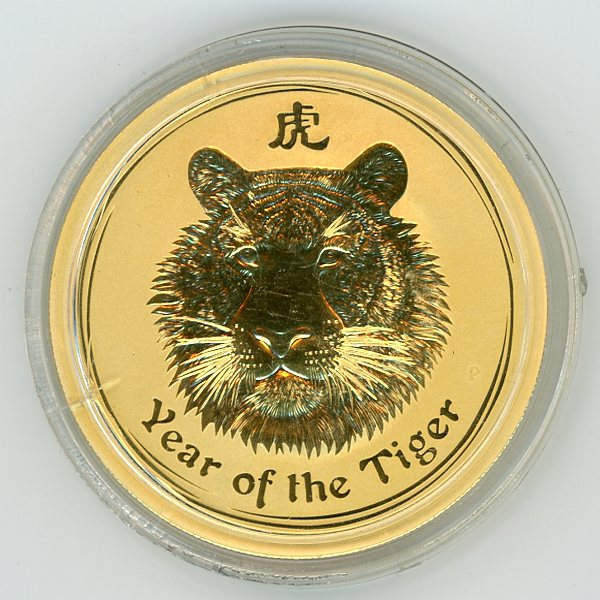 Thumbnail for 2010 Australian One Ounce Tiger in Capsule