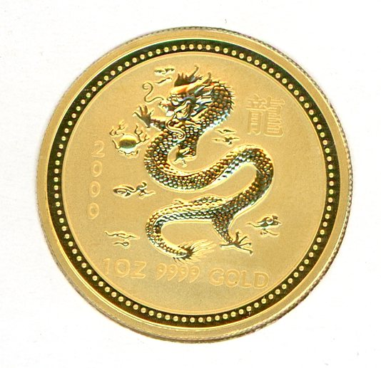 Thumbnail for 2000 Australian 1oz Gold - Year of the Dragon