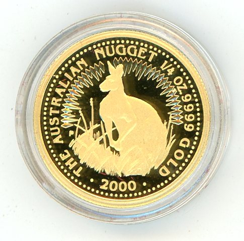 Thumbnail for 2000 One Quarter oz Gold Proof Kangaroo in Capsule