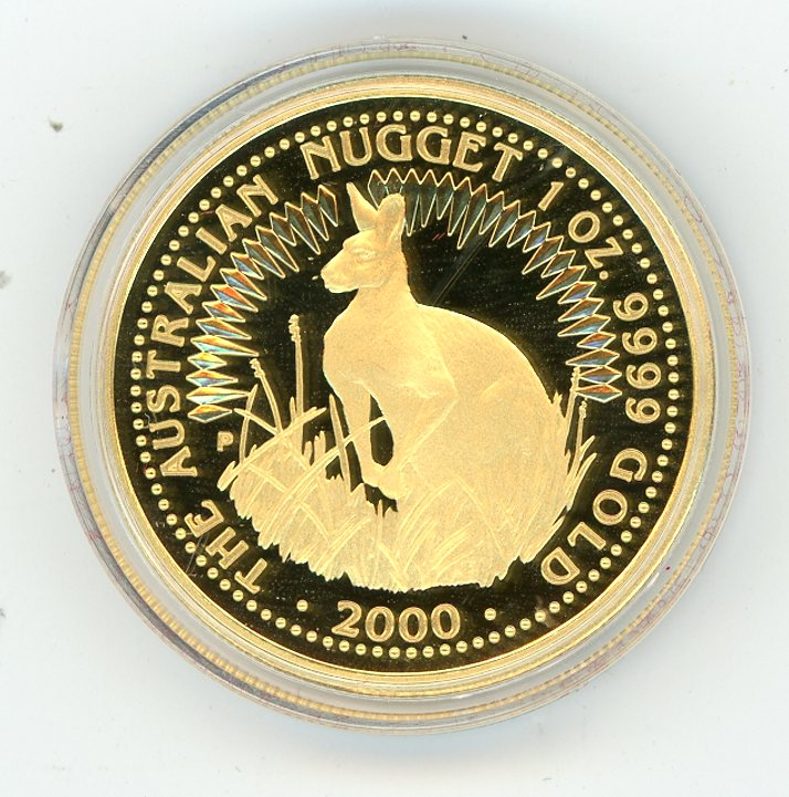 Thumbnail for 2000 One oz Gold Proof Kangaroo in Capsule