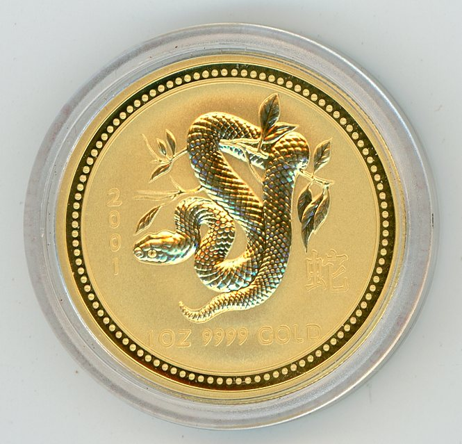 Thumbnail for 2001 Australian 1oz Gold - Year of the Snake Series One