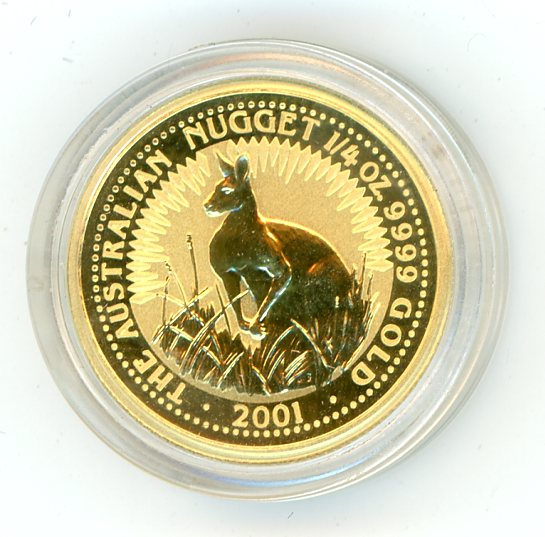 Thumbnail for 2001 One Quarter oz Australian Kangaroo
