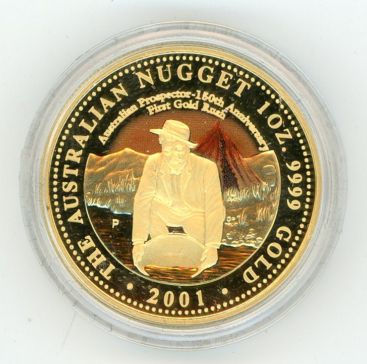 Thumbnail for 2001 One oz Coloured Gold Proof In Capsule