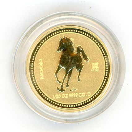 Thumbnail for 2002 Australian One Twentieth oz Lunar Year of the Horse Series 1