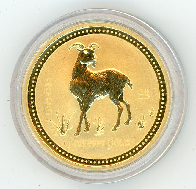 Thumbnail for 2003 Australian 1oz Gold - Year of the Goat Series One