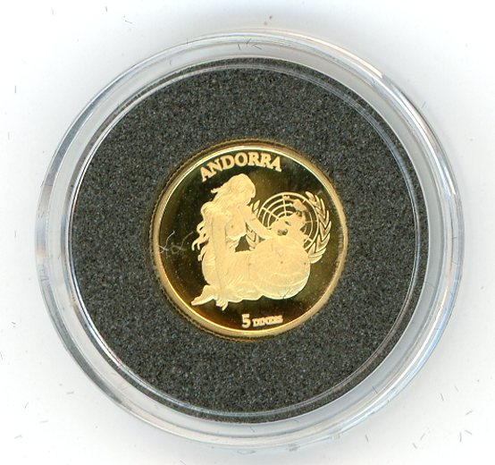 Thumbnail for 2004 Andorra 1.224 Grams .999 Five Diners - Accession to the United Nations
