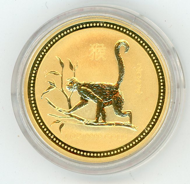 Thumbnail for 2004 Australian 1oz Gold - Year of the Monkey Series One