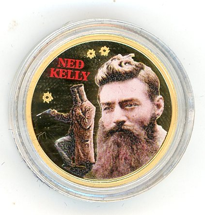 Thumbnail for 2004 Cook Islands Quarter oz Coloured Gold Proof Coin - Ned Kelly