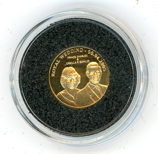 Thumbnail for 2005 Cook Islands 1.27 Gram .999 Ten Dollars - 2005 Royal Wedding