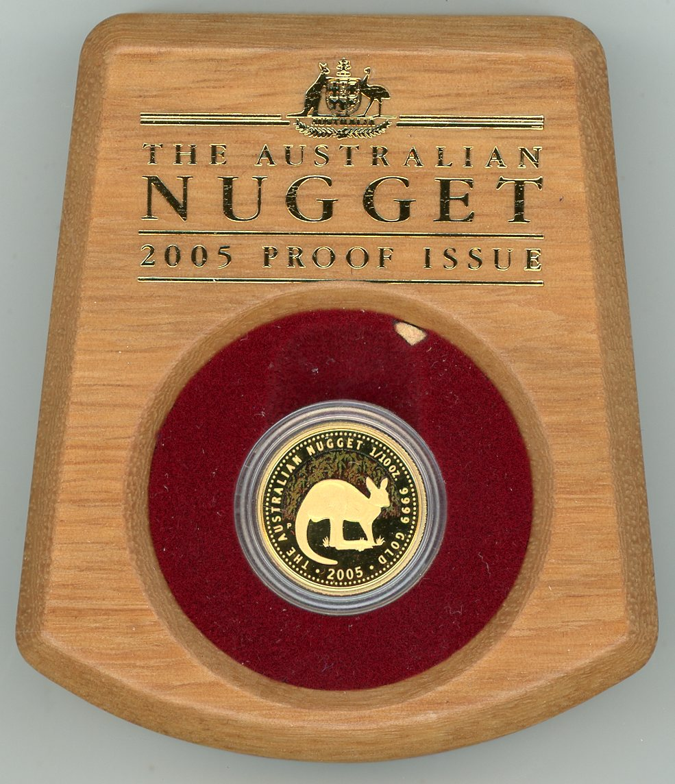 Thumbnail for 2005 One Tenth oz Australian Nugget Proof Coin
