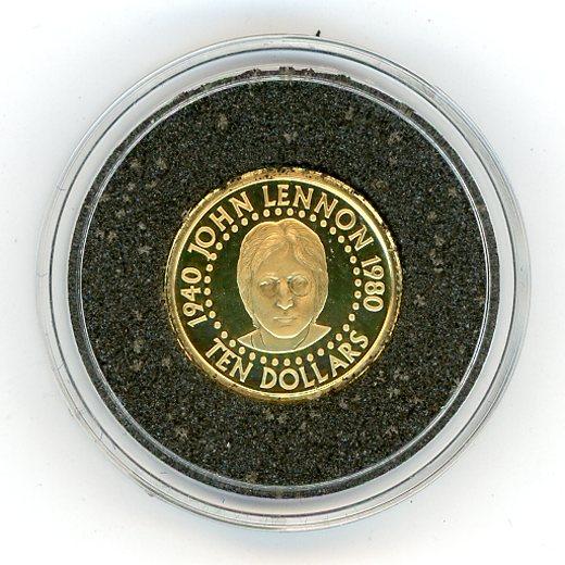 Thumbnail for 2005 Soloman Islands $10 1.224gm - John Lennon