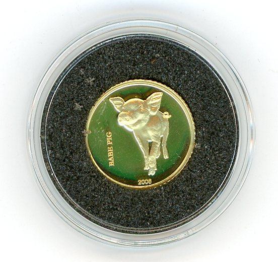 Thumbnail for 2006 Democratic Republic of Congo Twenty Francs 1.224gm - Babe Pig