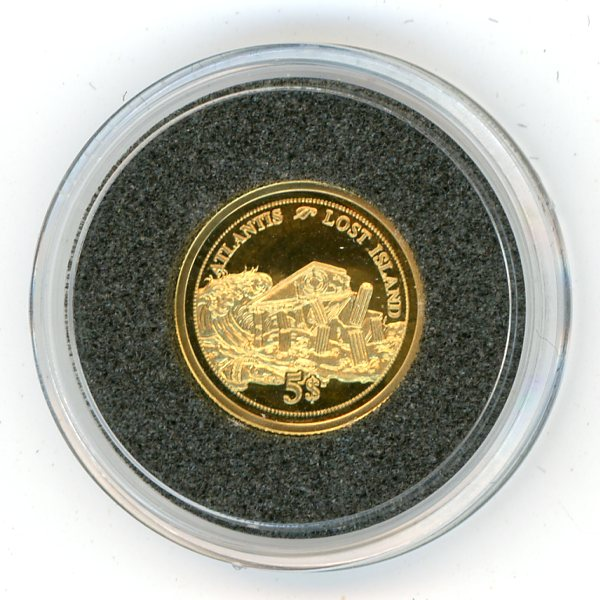Thumbnail for 2006 Fiji 1.244 Grams .585 Gold Five Dollars - Atlantis