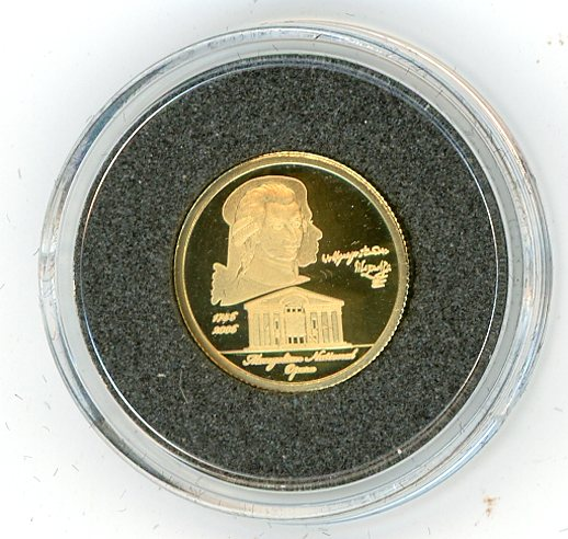 Thumbnail for 2006 Mongolia 1.224 Grams .999 1000 Togrog - Mozart