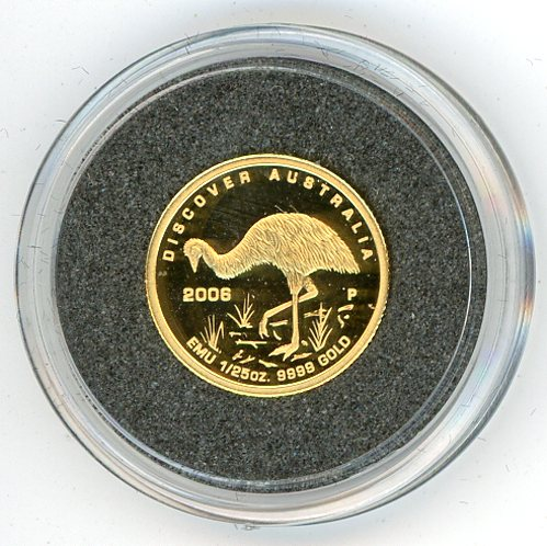 Thumbnail for 2006 One Twentififth oz Discover Australia - Emu Proof in Capsule