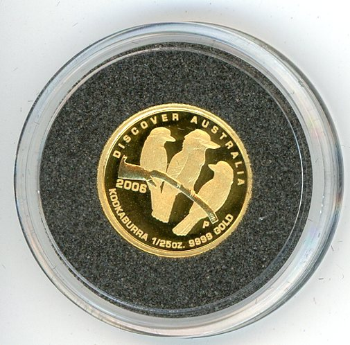 Thumbnail for 2006 One Twentififth oz Discover Australia - Kookaburra proof in Capsule