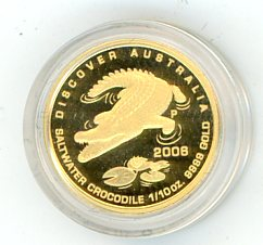 Thumbnail for 2006 One Tenth oz Discover Australia - Crocodile in Capsule