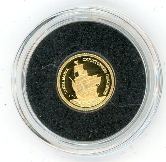 Thumbnail for 2006 Palau 0.5 .999 Gram One Dollar - Columbus Santa Maria