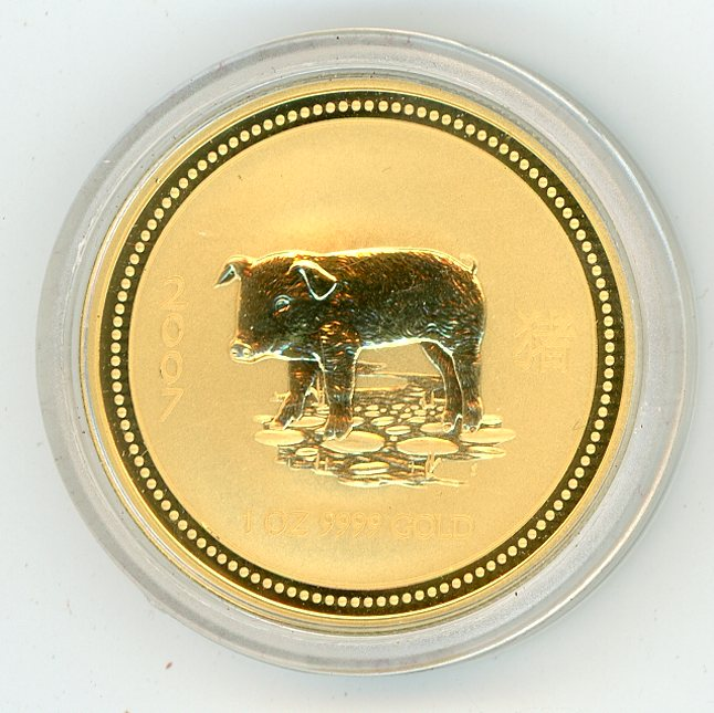 Thumbnail for 2007 Australian 1oz Gold - Year of the Pig Series One