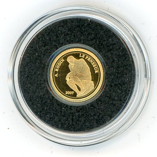 Thumbnail for 2007 Benin 0.5 Gram .999 1500 Francs - The Thinker