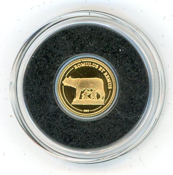 Thumbnail for 2007 Congo 0.5 Gram .999 1500 Francs - Romulus & Remus