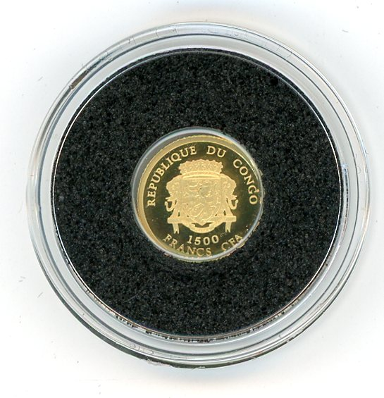 Thumbnail for 2007 Republic of Congo 0.5 Gram .999 Gold 1500 Francs - Napoleon Bonaparte