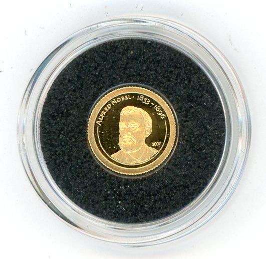 Thumbnail for 2007 Mongolia 0.5 Gtam .999 500 Togrog - Alfred Nobel