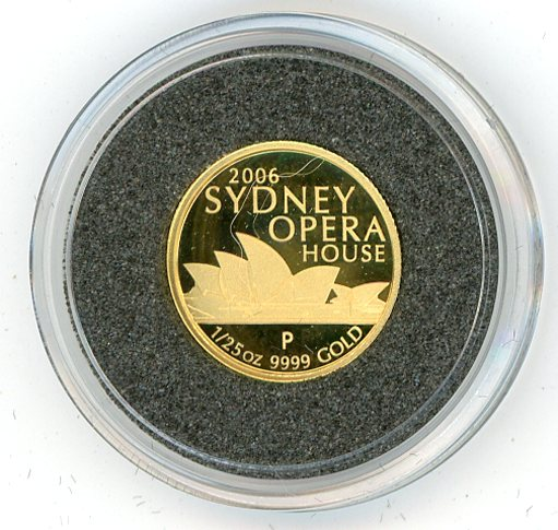 Thumbnail for 2006 One Twentififth oz Sydney Opera House Proof in Capsule