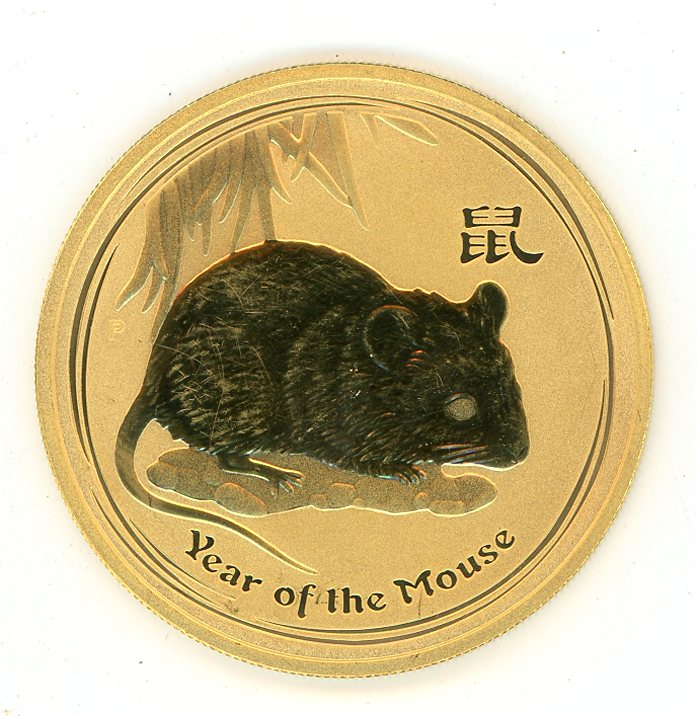 Thumbnail for 2008 Australian 1oz Gold Year of the Mouse