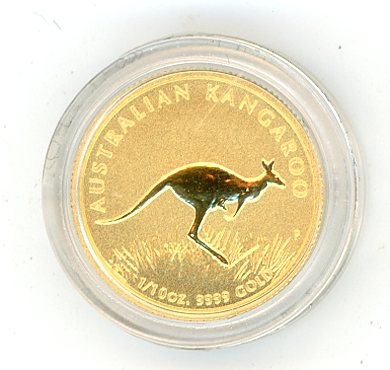 Thumbnail for 2008 Australian One Tenth oz Kangaroo in Capsule