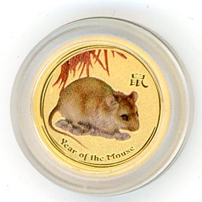 Thumbnail for 2008 Australian One Twentieth oz Coloured - Year of the Mouse