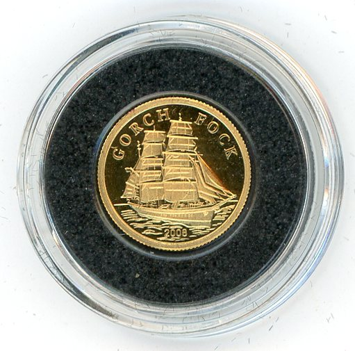 Thumbnail for 2008 Cook Islands 1.0 Gram .999 Ten Dollars - Gorch Fock