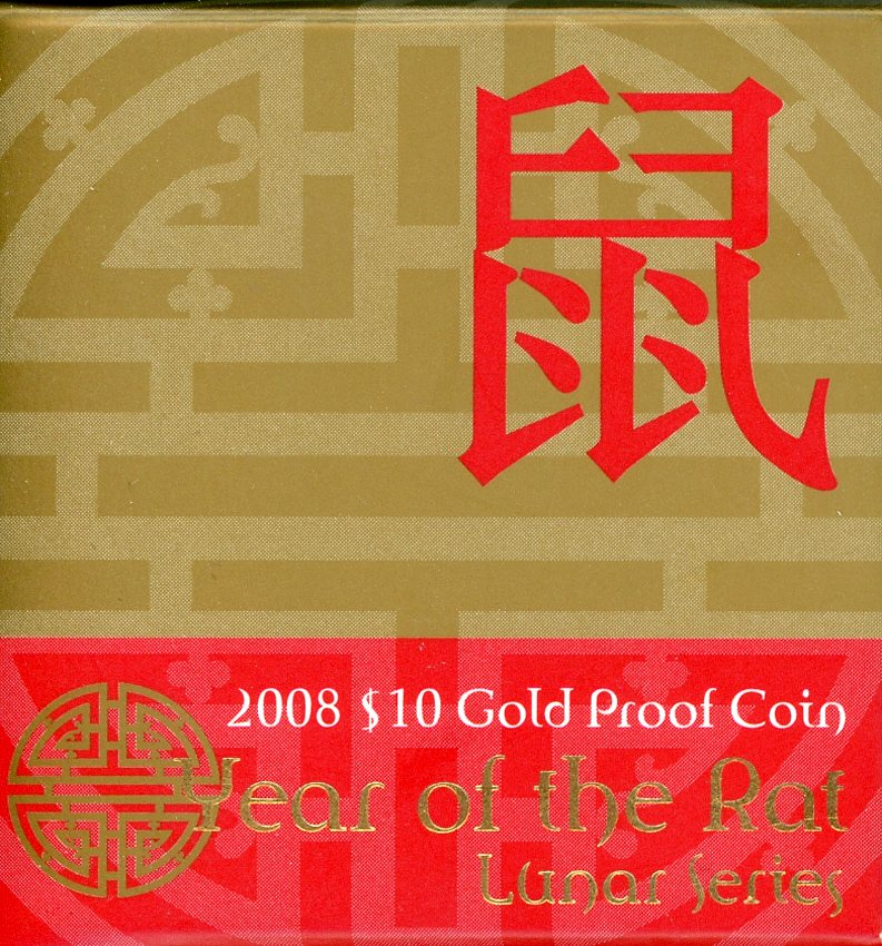 Thumbnail for 2008 Lunar Year of the Rat $10 Gold Proof
