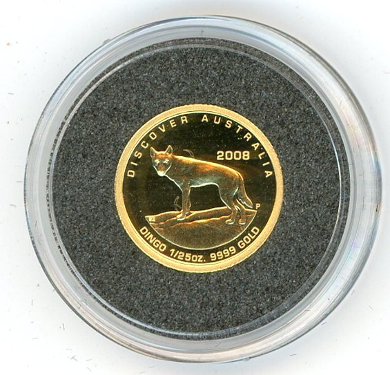 Thumbnail for 2008 One Twentififth oz Discover Australia - Dingo Proof in Capsule