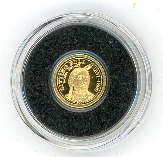 Thumbnail for 2008 Palau 0.5 Gram .999 One Dollar - Sitting Bull