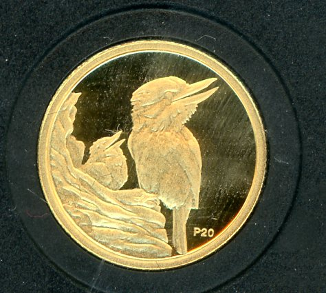 Thumbnail for 2009 Australian One Twentieth oz Gold Proof Kookaburra - 1997 Design