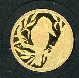 Thumbnail for 2009 Australian One Twentieth oz Gold Proof Kookaburra - 1991 Design