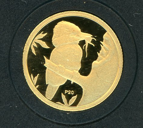 Thumbnail for 2009 Australian One Twentieth oz Gold Proof Kookaburra - 1993 Design