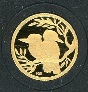 Thumbnail for 2009 Australian One Twentieth oz Gold Proof Kookaburra - 1994 Design