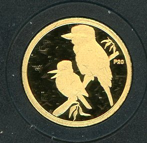 Thumbnail for 2009 Australian One Twentieth oz Gold Proof Kookaburra - 1999 Design