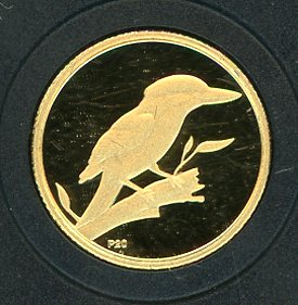 Thumbnail for 2009 Australian One Twentieth oz Gold Proof Kookaburra - 2003 Design